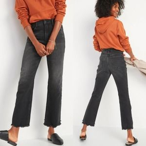 ON High-Waisted Flare Cut-Off Ankle Jeans Tall